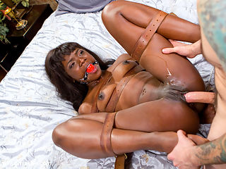 Yes Master - Ebony Boss Slut Gets the Tables Turned : When bossy Ana Foxxx gets challenged by her office playmate, he turns the table and blackmails her with a video of them fucking on her bed. He fucks her so good that she submits to him completely. He ties her up in tight bondage and flogs her into submission.