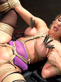 Slave Training a Big Tit Blonde Bombshell In Bondage, Day One : Smoking hot porn star Cherie Deville is transformed into a bound sex slave when she submits to the cruel torments of slave training. Tommy Pistol fucks the gorgeous bound starlet into submission at the end of a whip, ripping from her orgasm after shattering orgasm.