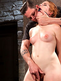 Sexy Spanish Slut Bound with Pain, Hot Wax and Orgasms!!! : Super Spanish Sex Kitten Amarna Miller steps into Hogtied with a willing smile and a slamming body. I rip her trashy little outfit off her with my powerful man hands and then tie her up for my pleasure. She gets flogged on the tits, ass and pussy with a vengeance. She has to cum until Im satisfied. She cries because I overloaded her brain with my devilish mixture of pain and pleasure. I take her right pass her pain threshold to complete submissive bliss.