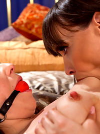 Special Delivery Submissive Anal Slut Gifted to Hot Domme! : Lounging in her boudoir, the gorgeous Dana DeArmond receives a mysterious present, an old trunk filled with the cute, submissive Juliette March. Raising her new toy out of the box into a suspension, Dana inspects her property with finger banging and booty spanking. Tied to the bed covered in clothespins, Dana rides Juliettes face to satisfaction before rewarding her sub with a dick on a stick fucking and multiple orgasms. The night ends with an action packed pussy and anal strap on fucking in multiple positions!