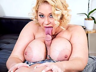Hit The G-Spot : Sexy. flirty and curvy, Samantha is just as enticing as the girl we first met in 2002. When she initially debuted, she didnt jump into XXX immediately, but when she finally did, she shot some of the best content ever. The XL legend is back today for more cock, more teasing and Hall-of-Fame sex.br br So what do you boys think? Samantha asks as she struts into view. My nipples are off the dots. Do you like? What would you say if you saw me out in a club in this?br br Being the gentlemen that we are, we would quickly offer Samantha the drink of her choice and a ride home. When Tony Rubino enters the scene, he makes a beeline for Samanthas mountain of tits. Its what any man would do. Their fuck-fest begins with a bit of titty play and worship, and Samantha is just as excited by the teasing as Tony is. Her nipples are already erect and she lets out little giggles.br br I love it, Tony says as he buries his face in her naturals.br br And this is just the start. We hope you guys are ready for another Hall-of-Fame fuck, courtesy of Ms. 38G.