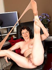 Anilos.com Artemisia - Office MILF chick strips her pantyhose and flirts : Office MILF chick strips her pantyhose and flirts