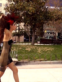 Anal Slut Humiliated and Fucked Outdoors : Camil Core is humiliated and shamed on the streets of Madrid by gorgeous Dom Satrina. This dirty slut is drenched in a public fountain before getting pissed on and fucked outdoors in front of a wild crowd. Later she is tied up in rope bondage for some corporal punishment and a deep anal fucking. She then takes it in every hole for a hard double penetration.