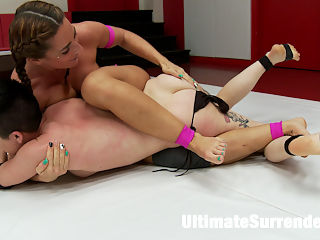 Big Booty Fox Takes on Daddy! : Savanna Fox and Joey have similar records. Both have 1 loss this season, this is the second match for each of them. This is a tournament match the the winner makes sure to rub in the loss extra special with foot worship, armpit licking, ass smothering and a good ole fashion brutal strap on fucking.