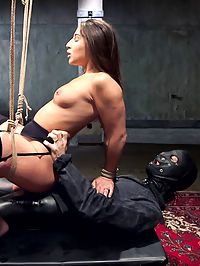 Hardcore Anal in Strict Bondage, 19 Year Old Abella Danger, Day One : Abella Danger in heavy bondage, huge ball gags, weighted nipple clamps and under strict discipline as hardcore anal slave in training. Abellas big all natural ass bounces on hard cock as she takes it in the ass while getting flogged, whipped, cropped and manhandled. Abellas gagged mouth spills creamy drool all over her all natural tits, her nipples are clamped tight as she rides giant dick in her ass and learns to behave like an obedient slave girl.When 19 year old Abella Danger wants to learn about submission and masochism, the budding pain slut come to Training of O to learn how to eroticize the pain and give up her asshole to dominant dick. Abella screams for more cock, more orgasms, more pain, more of everything. And she spills over till she is left a come drunk, fucked, used, anal slave girl with a long road to travel before she sleeps. Welcome to Servitude, Abella.