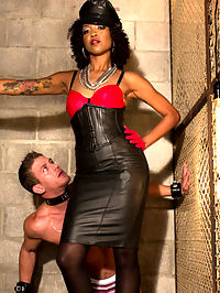 Leather Bitch From Hell : ALL YOU PATHETIC FUCKING SLAVES BOW DOWN BEFORE THE NEWEST DIVINE BITCH!!! Mistress Lotus Lain saunters into the dungeon for her first solo total domination of this meaty hunk of living, breathing dildo! The gorgeous, leather wrapped, dangerously spiked black heel Mistress Lotus pulls her meat stick from the dirtiest cage in the dungeon, mind fucking and tenderizing him with a crop before giving him a deep anal fucking with her elegant, ruthless cock!! Only then does this heavenly Divine Bitch use her cowering boy toy as he was meant to be used - as a masturbation machine for her nectar-filled divine cunt!! After cumming all over her lucky new dildo, Mistress Lotus edges him until he cant take anymore and has to slurp up his own cummy filth from the tip of this Divine Bitchs powerful boot!!! PREPARE YOURSELVES FOR THE INCREDIBLE DEBUT OF DIVINE BITCH MISTRESS LOTUS LAIN!!!