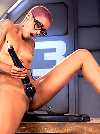 Skin Diamond Squirts in Bondage!! : We know how much Skin enjoys being tied up, so we told her she could have one scene with bondage. She loves it so much that we actually made her have squirting orgasms during the scene.The other scenes are bondage free, so dont fear all that prefer not to see the girls tied up. We fuck her her fast and hard in her happy little pussy, and she is more than willing to let us do so. Every time Skin orgasms she pushes the machines out with her powerful puss and at one point she shoots her ass plug across the room from having such strong orgasms. She likes to please and we like to watch her do this for your viewing pleasure.