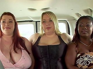 Extracurricular Activities : Hit the road with Big Girl Sex School headmistress Shugar and her students Lovely Libra, Ivy Dreams, Madi Jane and Peaches LaRue. This van is stuffed with more breastmeat than a chicken truck. We shot their chat this way so that the girls big tits bounced like crazy. Girls will be girls and XL Girls seem to be a lot more rambunctious and frisky than other girls. Put them together in one place, like this van heading down the hooter highway, and youve got some seriously horny babes talking sex and big tits. They are proud to be big girls, a special sorority!