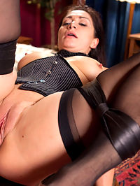WINNER TAKES ALL : Lea Lexis is bound, gagged and fucked hard in her ass in this story of Risk and Reward...When the Boss looses everything to a hardcore hustler, his exotic wife Lea Lexis falls into the wrong hands and pays the price. The helpless wife is handcuffed and made to suck cock to pay her husbands debts. And when her big round ass is in the air, the hustler takes full advantage and turns the bound and gagged girl into his anal fuck toy.
