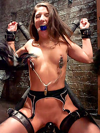 Abella Dangers Anal Submission, Day Two : Abella has a craving deep inside for what can only be found in the darkest places. She wants a potent mix of pain, debasement and sex that when correctly proportioned, brings out the absolute filthiest in her. Hard anal sex, tight nipple clamps, restrictive cruel bondage hold her supple body down while his cock pounds her submissive pussy. Her ass is fucked, nipples painfully clamped and tugged. Anything it takes to satisfy her dark craving.