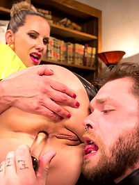 Everybody Loves Anal, So Worship That Ass! : Mike Panic books an appointment with Maitresse Madeline Marlowe. She invites him to her office to have a frank discussion about anal sex. Mike lucks out because Madeline is on a spin that day and demands her ass be cleaned by his tongue then allows him to fuck her with a glass anal toy while he licks around he stretching hole. He is spanked for having his head in the gutter thinking all sorts of thoughts while his tongue laps up all her cum. Madeline uses her big black strap on and then her magical finger to milk his prostate until he erupts with cock juice. Madeline licks it all up then snowballs every drop back into her slaves mouth.