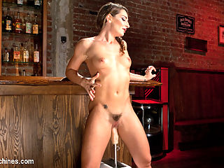 Big Booty Squirter Soaks the Speakeasy! : Savannah has a tight body with a big booty, and her holes are hungry for some action. She starts with some vibe action to get the juices flowing...literally. Then she finds a spot in the speakeasy for her first fuck. She spreads her flexible legs and the first machine is slid into her pussy. We fuck her until the squirting begins, but dont stop until we have seen enough in this position.Next we move over to the bar and put her on top of it. Again we start fucking fucking her pussy, but then she wants it in her ass now. We speed up the machine until she begins squirting again and soaking everything in sight.We finish her in a standing position and fuck her until her legs get weak from all of the squirting orgasms. She has soaked the room, but we wouldnt have it any other way.