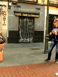 Busty Klara Gold Fucked Hard Outdoors!!! : Mona Wales is back on Public Disgrace to make sure Busty Model Klara Gold gets everything that is coming to her. Klara is humiliated in a public courtyard then taken to a crowded park for hard fucking. Mona even pisses on her! Later at a crowded cafe, everyone gets a piece of this slutty whore.
