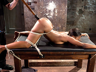 Ebony Super Slut in Tight Bondage, Grueling Punishment, and Mind Blowing Orgasms!!! : We begin with Chanell on the floor with her legs spread wide, her upper arms bound to her body and her wrists pulled away from her. The Pope enters and goes straight to work on this helpless slut. She fights to escape the torment, but she quickly succumbs to her captor and his tortuous ways.Next Chanell finds herself spread out like the slut that she is. Her feet are tormented, her pussy is punished, and her breath is controlled by her captor. Her vulnerable pussy is destroyed with non stop orgasms until she is begging for him to stop.Now its time to display this sluts amazing ass. She is tormented more and then her pussy betrays her. The orgasms are ripped from her willing pussy one after another and Chanell no longer has control of her body. The orgasms have taken over and its everything that she can do to get through this grueling torment.