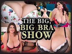 The Big, Big Bra Show : The Big Boob Owners Manual is a secret dossier most breast men never heard of. It gets passed around to chesty girls who carefully guard it and never speak of it. According to iSCOREi magazine editor Dave, the BBOM covers many areas concerning the common brassiere, the garment that holds the things we love so dear. That female rig also known as the tit-sling aka the hooter-holster aka the breast-basket.br br The Manual encourages large-breasted women to regularly go for bra fittings and make a video copy of it. The Manual encourages large-breasted girls to not favor one bra and to wear their bras on a rotating basis, never wearing the same bra more than two days in a row unless you fucked some stranger last night, wound up at his apartment and had no choice but to wear the same bra the next morning. The Manual also urges women to go braless once in a while, and, to quote the Manual, Put the top down once in a while and let them hang free and feel the air.br br The Big, Big Bra Show stars bra experts Ashley Sage Ellison, Lily Madison, Karina Hart, Elle Flynn, Ivy Darmon and Jennica Lynn trying on a series of brassieres and doing their best to induce a state of boob-drunkenness in anyone who watches this video. They will never admit to following the guidelines of The Big Boob Owners Manual. Theyll even tell you it doesnt exist. But we know better.