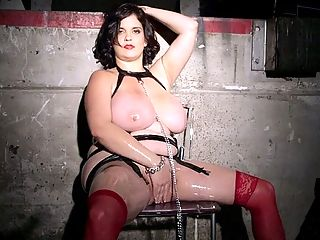 Submit To Your Mistress : Ive been a bad girl, Trinity says as her scene opens.br br Trinity is wearing one of the sexiest and most-revealing fetish outfits weve ever seen. Even calling it an outfit is a bit much. Shes wearing a black cage dress which covers very little of her sexy curves and some red boots. In short, Trinity looks ready for a good fuckin time. Well, ready for a good fuck. When a DDD-cup XL Girl is dressed like this, theres only one thing you can do fuck her brains out. Its a shame we arent there with her, but we dont mind watching. Especially because Trinity is the type of girl who loves exploring fetishes.br br I have a few fetishes, Trinity said. I like foot play and I like smoking, too. Its sexy. Ive dabbled in BDSM a few times with guys and girls, and thats always so much fun. Its so hot. Ive never done it with a girl and a guy at the same time, though. Thats one Im going to have to do soon. Id like to be eaten out by a girl who is being dominated by a guy at the same time. Id love to cum in her mouth while he rips her booty.