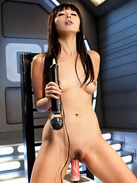 Asian Bombshell First Timer on Fucking Machines!!! : Marica Hase is no stranger to the Armory, but this is her first visit to fuck our machines. Her petite and sexy body makes our machines look massive and the cocks look like they are going to split her in half. We warm her up with a sybian ride and then start fucking her sopping wet pussy. It is pretty amazing watching someone ssee the machines for the first time, be a little scared of them, and then by the end of the day cant get enough of them.