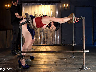Painful Ecstasy with Squirting Orgasms!!! : We start the day with Veruca in stock device. Her ankles, wrists, and waist are all immobilized by the wooden stocks. The Pope enters and immediately begins to torment this helpless slut. He terrorizes her body and mind with menacing electrical devices, such as zappers and cattle prods. The sweat runs off her glistening body as she is made to endure his brutality.Now she is inverted and restrained in hard steel. She is subjected to a brutal flogging, breath control, and orgasms so powerful that she fades into subspace. Not today slut! You will be present and suffer through all of it.In the final scene she is on her back with her legs spread exposing her pussy. Her nipples are tormented with a Wartenberg wheel and then clamped. She is taken all the way to the edge with extreme breath control and her pussy explodes with squirting orgasms as she screams in painful ecstasy.