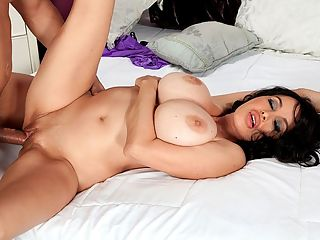 Are Busty Strippers The Best Fucks? Part 2 : Are busty strippers the best fucks? That question was once asked in Holly Brooks debut stripper video. Holly would agree. Busty strippers are the best fucks.br br Big-boobed lap dancers and strippers meet a lot of guys live, up-close and personal on-stage and in VIP Rooms. They know what makes guys tick, what we want, what gets us stiff and how we think. And when some of them get into porn and apply their flexible bodies and experienced bone-stiffening moves on cock, look out.br br Big-titted exotic dancer Claudia KeAloha, who has many iSCOREi credits to her name, shows how she pleasures horn-dog Rocky. Claudia gives him deep throat, sucking his cock all the way down the hatch. Many men would blow their fucking loads within minutes during one of Claudias talented blow jobs.br br Rockys cockhead must be tickling her tonsils! Rocky plays with her wet pussy and fingers her clit while she orals his prick. After she has had her mouthful of schwanz, Claudia sits on it and rides hard. That is only the beginning of their pumping party. Like any experienced, man-pleasing stripper, Claudia leaves her skyscraper heels on while shes being fucked because they add curvature and shape to her legs and push her tight and toned ass out.br