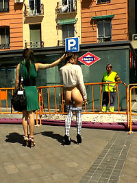 This Little Anal Slut Piggy Went to Spain and Got All Her Holes Filled : Valentina Bianco is a slutty anal piggy and Satrina shames this whore all around town. She gets tied up in rope bondage and submits to corporal punishment. She gets humiliated with double penetration followed by a strap-on fucking to the mouth. Valentina gets fucked hard and deep in all her tight holes.