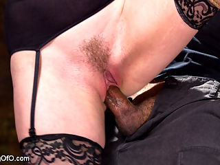 Trained to Fuck with All Holes Filled : Welcome nubile Ela Darling to Training of O. Ela wants the experience of getting fucked in hard bondage with all her holes fill. We are happy to oblige.