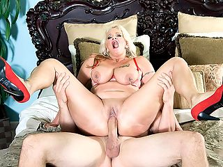 Pierced and fucked : First, we get to know Brooklynn Rayne, a 48-year-old wife and mother from upstate New York, now living in Fort Lauderdale, Florida. Second, we get to really know Brooklynn as she sucks and fucks JMacs big cock.br br We asked Brooklynn what she finds sexy, and she said, A beautiful mind, heart and soul.br br She didnt mention a hard cock, but judging from this scene, her first video fuck, she finds that sexy, too. Brooklynn is a moaner and a screamer, and she really gets into sex. She slobbers and gags all over JMacs cock. When he jacks himself onto her pussy, she rubs his cum into her gaping hole and uses three fingers to dip inside for more.br br Shes a mother of four, by the way.br br She has big tits and a tattoo on her left breast. Her boobs jiggle when she giggles, which is often. She shows us her pierced tongue.br br Its just one of many, she says. She has six piercings in all, and she shows them to us, spending more time on her pierced nipples both of them and her clit. She has jingle-jangle jewelry on her nipples and pussy.br br Im here to have sex on-camera, she says.br br Now, the interview doesnt last long. Soon, JMac is sucking on those pierced nipples, and Brooklynn is taking out his cock and sucking it. Shes a sloppy sucker. And she cant wait to hop on top of that cock. Its pretty hot to watch Brooklynns pussy jewelry banging against the cock while her tits bounce up and down.br br Brooklynn used to be an assistant in a medical office. Her favorite TV show is The Big Bang Theory. Yeah, we have a few theories about banging Brooklynn. Shes a football fan. She likes fucking outdoors and in public.br br I like the thrill of maybe being caught, she said.br br We caught her on-camera, and its quite a show.