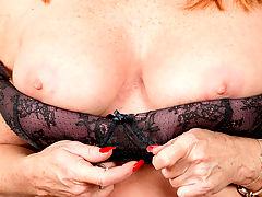This mature housewife is only getting more sexual as she gets older and decided its finally time to show the world how she likes to play with her big tits and juicy cum hungry pussy