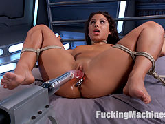 Big-Assed, Bombshell, Gets Tied-Up, and Robotically Blasted on Fucking Machines!!! : Some girls just cant keep still while being rammed over and over by massive cocks and relentless machines. Abella begged to be tied up so she could let our Robotic-Task-Masters do their job. And what a job they did! Blasted by Monster in one scene, Anal-Hook-Ass-Framing in the next, and then finally in the last scene twisted into a sideways-spoon position that makes her perfect ass look like the freshest cut of meat on the planet. She left our set panting, sweating, glowing, and cum drunk!!! Mission Accomplished!!!!