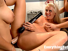 Anal Medical Punishment. Hot Nurses get a Deep Exam : Isis Love if the head nurse at the greatest sperm clinic on the planet. Her nitwitted Nurses have been making major mistakes and Isis needs to teach the girls a lesson. She spanks them, Spreads them wide with a speculum and looks deep into their holes. Holly Heart and Britney Amber take a giant strap on. Holly Heart takes a fist and loves every moment of it.