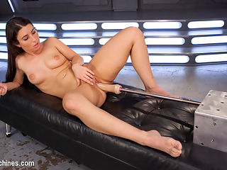 Pretty, Young, Thing Begs For Anal Pounding and Leaves Cum Drunk From Fucking Machines!! : Serena is your classic, All-American, sweet, young, good-girl who secretly craves never-ending orgasms. In doggie her ass trembles as the Bunny-Fucker warms her wet pussy up. Her unquenchable desire explodes as she spreads her legs wide open so her asshole can get the proper ramming it deserves. And just when you think she cant possibly cum again she sits down on the Sybian and for the ride of her life.