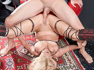 Rayne, Rayne, fuck her ass : A sex swing.br br A slutty, sexy, 48-year-old wife and mom who just happens to have pierced nipples and a pierced pussy.br br Sloppy dick-sucking and ball swallowing.br br A little bit of domination thrown in on the ladys end.br br A big dick thrown into the ladys rear end.br br It all makes for a heck of an encore for Brooklynn Rayne, whos already winning a lot of fans at 40SomethingMag.com.br br By fans, we mean guys who love jacking off to her photos and videos. We dont think anybody wants her autograph. But a blow job would be nice.br br Talk about a woman who knows what shes doing. Check out the action late in the video when JMac ass-fucks her in the piledriver position. Her legs are all the way back. Her big tits are wobbling, and so is her nipple jewelry. Shes rubbing her clit and enjoying one orgasm after another. This is as good as MILF porn gets. But then it gets better when JMac cums in her asshole and makes it gape and Brooklynn rubs in the cock sauce.br br Theres just something about Brooklynn. We think we know what it is. What do you think it is?
