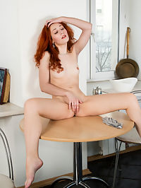 Nubiles.net Lana Nox - Horny redhead teases her fuckhole until she cums : Horny redhead teases her fuckhole until she cums
