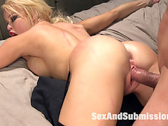 Nikkis Anal Surrender : Nikki Delano tries to pay off Mr. Pete to get rid of him, but Mr. Pete has other things in mind. Nikki is made to deep throat Petes hard cock. He ties her up tight in bondage and fucks her hard as she screams in total pleasure. Mr. Pete then pounds her asshole over and over again until she cums so good...