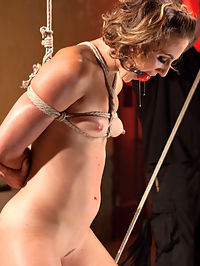 Rope Slut Begs to Suffer in Extreme Bondage : Dylan Ryan is a tall drink of champagne. She is as sexy as they come and her beauty is accentuated when she is made helpless in The Popes ropes. She is put is grueling predicament bondage that is punishment in itself, then her body is abused and tormented and then her pussy is made to cum with squirting explosions.