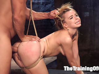 Anal Slut Trained in Hard Bondage Alina West Day Two : Holy shit this girl can fuck. And she loves being tied up, degraded, slapped around and dominated all in the most consensual way of course. She is a great trainee. Alina West is a cute little spinner with the skills to take it hard in the ass from Ramon Nomar while tied in the most difficult positions. And Ramon brings his A game to this match up. Great blow jobs, great vag, great anal pounding, great BDSM and bondage. If you like hot petite girls getting pounded hard by big fit dudes, you are not going to want to miss this update!
