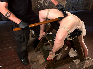 Big Tits, Brutal Bondage, Extreme Corporal Punishment, and Squirting Orgasms!!! : Bella is fucking back and looking hotter than ever. We begin with a standing spread eagle, her hair tied up, and the anxiety begins. She is flogged all over and then a crotch rope is added before she is allowed her final orgasms for this scene.Next she is put in a grueling back bend and she is tormented even more. This slut takes a good amount of punishment before we start to fuck her mouth and pussy. The more helpless she is the more her pussy craves the attention so we fill that whore hole up and rip orgasms out of her like theres no tomorrow.In the final scene we put our cum slut in a nasty pile driver on the floor. This time the cane comes out and we see Bella suffer like only she can. Her legs and feet are tormented and then we start fucking her pussy and mouth again.