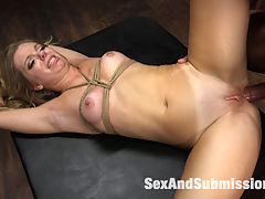 Tied and Helpless Anal Captive : When hot little princess Trisha Parks is taken prisoner by Marco Banderas, she gets a hard round of full immersion Spanish lessons. Trisha Parks takes it hard in the ass at the hands of her ruthless captor. Helpless, bound and sexually violated, Trisha is whipped, gagged, nipple clamped and fucked into anal orgasm overload by Marcos big, hard cock.