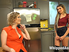 Whore In Training Missy Minks anally submits to Cherry Torn! : Roommate Cherry Torn, helps broke San Francisco chick, Missy Minks, keep up with the rising housing costs of the booming city with an unconventional idea for making extra money. Missy enters into a slave a contract with Cherry in exchange for kinky whore training to prepare her for demanding clients willing to pay top dollar for submissive anal sluts. Training consists of spanking, flogging, canning, anal hook, face sitting, and anal strap-on fucking!