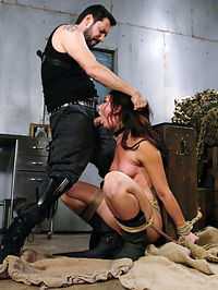 Anal Bounty Hunter III : Mandy Muse can run but there is a price on her head, and her ass. Anal Bounty Hunder Tommy Pistol chases down his prey and collects his fee straight from Mandys amazing ass! Beautiful, big ass brunette Mandy Muse is captured, restrained and molested. Pistol drags his prize to his hideout where he ties her up to exposed and exploit the submissive sluts anal treasures. Anal Bounty Hunter 3 features captive female in hardcore, rough anal sex scenes, bondage, corporal punishment, ass gaping and heavy humiliation.
