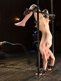 Fresh Meat - Charlotte Sartre Suffers and Orgasms in Bondage : Brand new 19 year old Alt girl gets her first taste of brutal domination. She starts with her head and hands in deprivation globes. Her clothes are stripped away and she is quickly turned a bright red from heavy flogging. When it comes time to reward this newbie she is a bit shy with the orgasms, but that will soon change too.Charlotte is now inverted and made to hold herself up to prevent any further suffering from the device. The torment is escalated to an extreme level to ensure total destruction. The room is filled with begging screams that continue through her orgasms.In the final scene she is in a doggie position with the sybian mounted between her legs. The only purpose is to make her orgasm more than she ever has before and then keep going until she cant take any more. During this time her feet are tormented with brutal bastinado.
