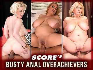 Busty Anal Overachievers : Four iSCORELANDi bra-busters open their backdoors for a special delivery in Busty Anal Overachievers. We have the quiet European Jasmine Black, the mature, natural brick shithouse Tahnee Taylor, the dirty-talking screamer Goldie Ray and the super-Voluptuous hottie and contender for Newcomer of the Year Liza Biggs. br br Once asked if she had one choice of either a cock in her pussy or in her ass, Tahnee said ass. Liza likes anal fingering and licking. A diverse range of sexy babes, horny and proud of it, all of them hotter than a blast furnace at a steel mill.br