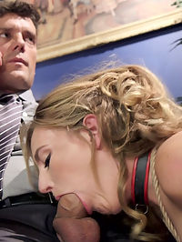 18 year old Submissive Secretary Takes Her Punishment : Stunning 18 year old Gina Valentina is smitten with her boss and when he asks her to join him on a work retreat she is positive that she will be receiving a marriage proposal. She instead receives a shock to find the retreat is on the Upper Floor premises, and she is greeted by his personal anal slave Mona. Ginas appetite for sadistic sex and strict punishment grow as she spies on Ramon and Monas relationship of pain and pleasure. Soon the young beauty submits her lithe body to the cane, brutal fucking, anal play, bondage, clamps, and learning how to be an anal slave under the evil tutelage of Mona Wales.