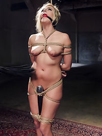 No Pleasure Without Pain - Slave Training Kate England Day 1 : No good slave would want to receive pleasure without taking a little pain first and thats exactly the lesson Kate England is taught in her first day of submissive slave training. Our slut in training is bound in tight bondage and given a good beating before being reward with a hard cock up her ass. This days training is full of brutal bondage, corporal punishment, gagging blowjobs, and hardcore anal fucking.