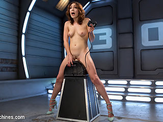 Power Fucking and Double Sybians!!! : Super babe, Lily LaBeau is here to show off her skills. She is given a sybian to ride and the longest cock we could find for her to deep throat while orgasming. Its a beautiful sight as she takes the cock all the way to its base every time she cums. We put her on her back and start the fucking and dont stop until she is fucked out. Then we show off her long legs and have her in a standing doggy where we fuck her even more. We destroy her pussy and then put her on the sybian for a second time and blow her mind!!!