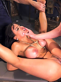 Hot Latina Slave for a Day : Knock out beauty Luna Star wants to be a slave for a day. Shes gonna have to prove how much she wants it with her gorgeous tits, big ass, hot fuckable mouth and subservience to the cock. Hardcore bondage, nipple clamps, gags, whips, and discipline take this slave girl to her knees and swell her cunt with the pride of serving well.