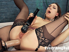 Kimberly Kane gives a diabolically seductive Anal Fisting to Lily LaBeau : Kimberly Kane is back on Everything Butt with a seduction scene with Lily LaBeau. These filthy girls play well together. Kimberly makes Lily push her farts out of her beautifully freshly fucked freshly gapped asshole. Then Kimberly rides Lilys face in an amazing facing sitting performance. Lily is Fisted and then strap on fucked to show off her amazing gaps.