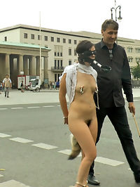 Juliette March Needs to Exposes her Cunt to Everyone : Juliette March looks so cute when she is punished and publicly humiliated. This pint sized cunt is willing to do anything for Steve Holmes dick. Blindfolded, barefoot and exposed to hundreds of onlookers. Tourist gasp as Steve reveals Juliettes hairy pussy. Steve continues the spectacle at Juliettes expense by bending her over and caning her perfectly plump ass. Juliette turns beat red when Steve takes off her blindfold to show her how disgusted people are by her. Juliette makes the most beautiful pleading face as Steve beats her perfect ass in an attempt to discipline her. Finally, Steve decides to test Juliettes desire for his cock by taking her to a classy bar to see what she will do. Steve opens Juliettes filthy holes for small group of voyeurs to see. Stripped naked Juliette begs for Steve to jam his cock into every one of her holes. Bouncing up and down on Steves dick, Juliettes pussy juices stream down his balls as everyone in the bar stares at her dripping gash. Juliette rubs her cunt and meets the onlookers eyes, imagining what their cocks look like. At last Juliette is rewarded with Steves cum by slurping his balls until they unload all over her face and perky titties.