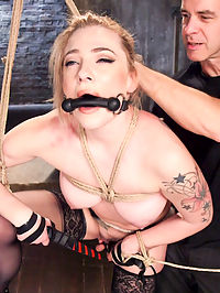 Dahlia Skys Anal Pain and Pleasure : Anal slave girl Dahlia Sky is made to choose between pain and pleasure to please her master in this hardcore BDSM and anal sex movie. Dahlia endures predicament bondage, electricity sex, hard face fucking, heavy bondage, gags, drool, deep anal sex and multiple orgasms at the hands of two sadistic slave trainers.