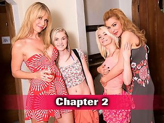 iThe Sex Tutori with Desiree, Maddy and Cassidy : What starts off as an innocent senior skip day at the pool turns into an all-out pussy-munching lez-fest. Sasha is hanging out with her equally hot MILF friend Desiree when Maddy and Cassidy stop by to use the pool. No one can resist these two teens in a bikini...not even Sasha. Tops come off and the tongues come out. Sasha takes Cassidys little tits in her mouth while Desiree works her magic on Maddy. The girls get their peaches eaten by these hungry cougars--and judging by Cassidys reaction, Sasha might be even better at oral than a guy! Then the teens go down on the MILFs for a taste of ripe pussy. The collective moans of this group of sluts can be heard echoing throughout the house. This is how every senior skip day should be spent.