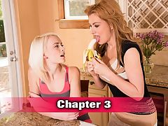 iThe Sex Tutori with Maddy Rose : Maddy isnt very experienced in the ways of sex, but thats what Sasha is here for. During their tutoring lesson, Maddy admits that shes distracted because her boyfriend wants to have sex with her. So Ms. Sasha gives Maddy a BJ lesson with a banana. That turns up the heat, and Sasha cant keep her hands or lips off Maddy. Now that Maddy has learned how to suck cock, she is going to learn how to cum hard at the hands of a sexy, older, experienced woman. The MILF gives the teen lots of instructions, then licks and fingers Maddys super-pink pussy on top of the kitchen counter. She coaxes an orgasm out of Maddy with a furious finger-fucking that could rival the pounding of any cock! Maddy has to return the favor and licks Sashas mature clit. At the end, they have a sloppy makeout session so the pussy juices on their lips can mix and mingle.